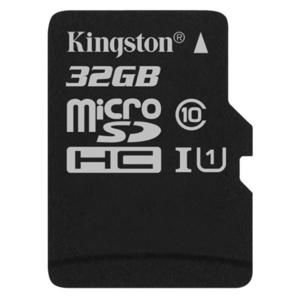 KINGSTON 32GB MICROSDHC CANVAS SELECT (80R, 10W, CL10 UHS-I, BEZ SD ADAPTERA)