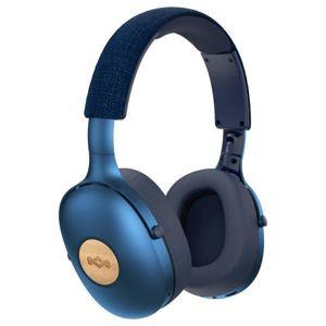 MARLEY Positive Vibration XL Bluetooth® 5.0 - Denim, sluchátka přes hlavu s ovladačem a mikrofonem