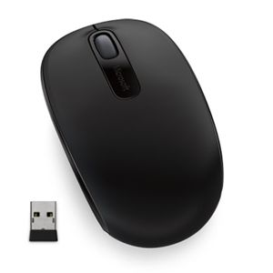 MICROSOFT WIRELESS MOBILE MOUSE 1850 BLACK, U7Z-00004
