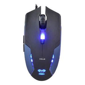 E-Blue Myš Cobra II, 1600DPI, optická, 6tl., 1 koliesko, drôtová USB, modrá, herná