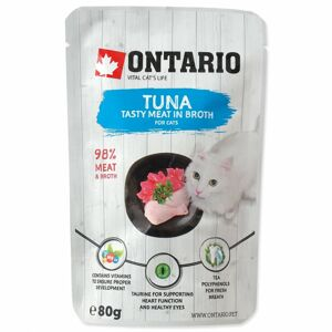 ONTARIO KAPSICKA CAT TUNA IN BROTH 80G