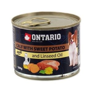 ONTARIO KONZERVA DOG MINI CALF, SWEETPOTATO, DANDELION AND LINSEED OIL 200G (214-2016)