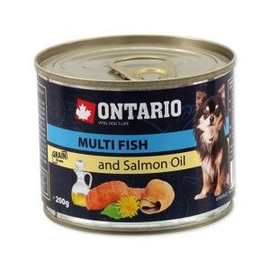 ONTARIO KONZERVA DOG MINI MULTI FISH AND SALMON OIL 200G (214-2021)