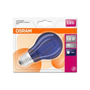 OSRAM LED STAR CL A BLUE 15 NON-DIM 2,5W/827 E27