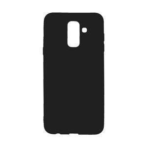 Matné gumené puzdro Samsung Galaxy A6 Plus čierne