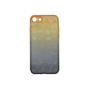 Puzdro Diamond iPhone 8, iPhone 7 oranžovo-sivé