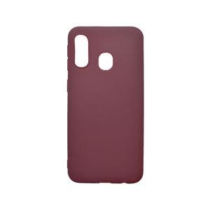 Matné silikónové puzdro Samsung Galaxy A40 bordové