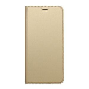 Knižkové puzdro Metacase Samsung Galaxy A8 2018 zlaté, bočné