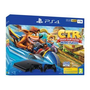 PLAYSTATION 4 1TB CIERNA + DS4 + CRASH TEAM RACING