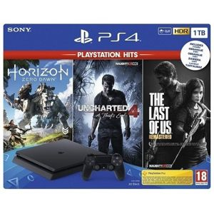 PLAYSTATION 4 SLIM 1TB + UNCHARTED 4 + HORIZON ZERO DAWN + THE LAST OF US