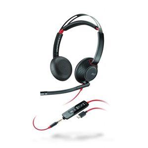 Plantronics Blackwire 5220, USB-C, náhlavní souprava na obě uši se sponou