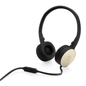 HP H2800, slúchadlá s mikrofónom, ovládanie hlasitosti, čierno-zlatá, 3.5 mm jack klasická