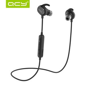 QCY - QY19, sportovní bluetooth sluchátka do uší s ovladačem a mikrofonem, černá