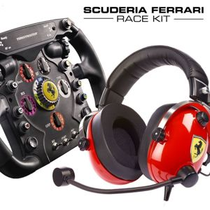 Thrustmaster SCUDERIA Ferrari Race kit, Sada Volantu Ferrari F1 Add-On+Sluchatek T.Racing Ferrari