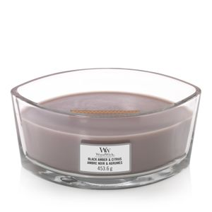 WOODWICK SVIECKA DEKORATIVNA VAZA BLACK AMBER AND CITRUS 453,6G, 76035