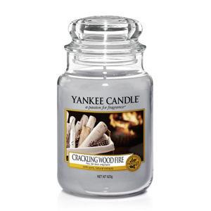 YANKEE CANDLE 1556292E SVIECKA CRACKLING WOOD FIRE/VELKA